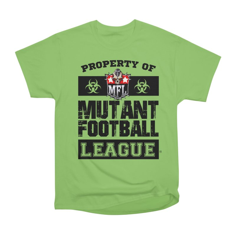 Property of MFL apparel Men's Heavyweight T-Shirt by Mutant Football League Team Store