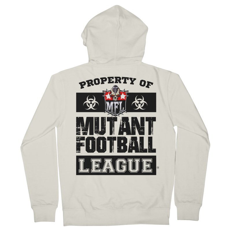 Property of MFL apparel Women's French Terry Zip-Up Hoody by Mutant Football League Team Store