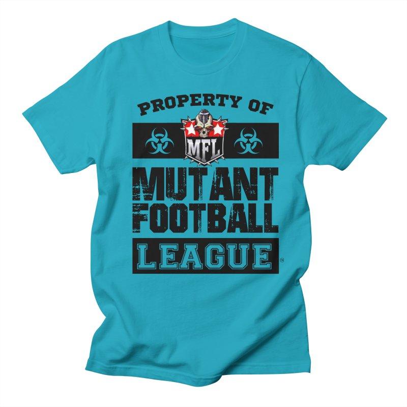 Property of MFL apparel Women's Regular Unisex T-Shirt by Mutant Football League Team Store