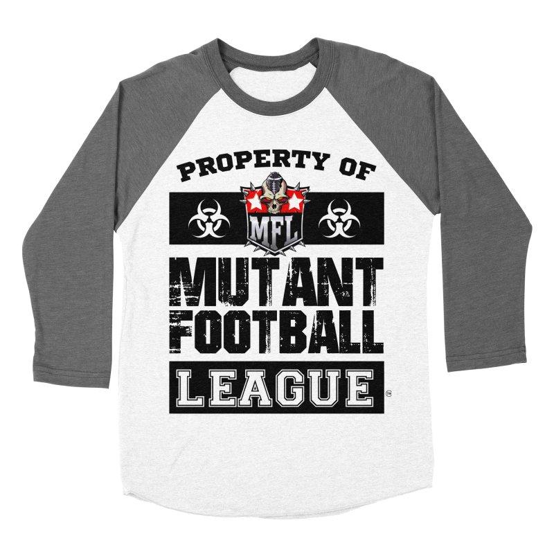 Property of MFL apparel Women's Baseball Triblend Longsleeve T-Shirt by Mutant Football League Team Store