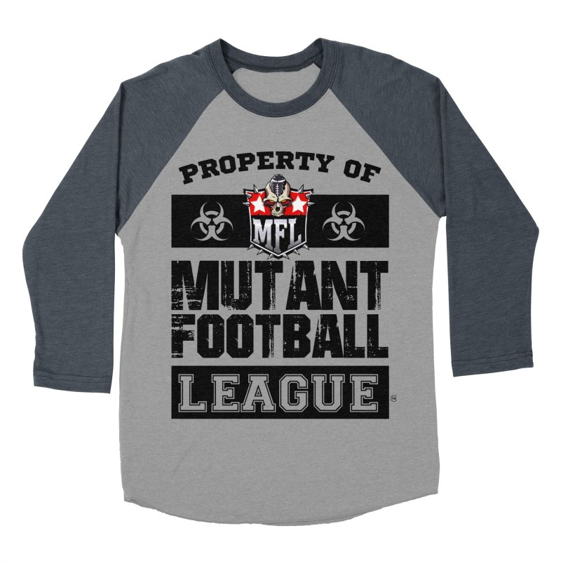 Property of MFL apparel Women's Baseball Triblend Longsleeve T-Shirt by Mutant Football League Team Store