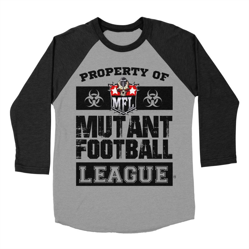 Property of MFL apparel Men's Baseball Triblend Longsleeve T-Shirt by Mutant Football League Team Store