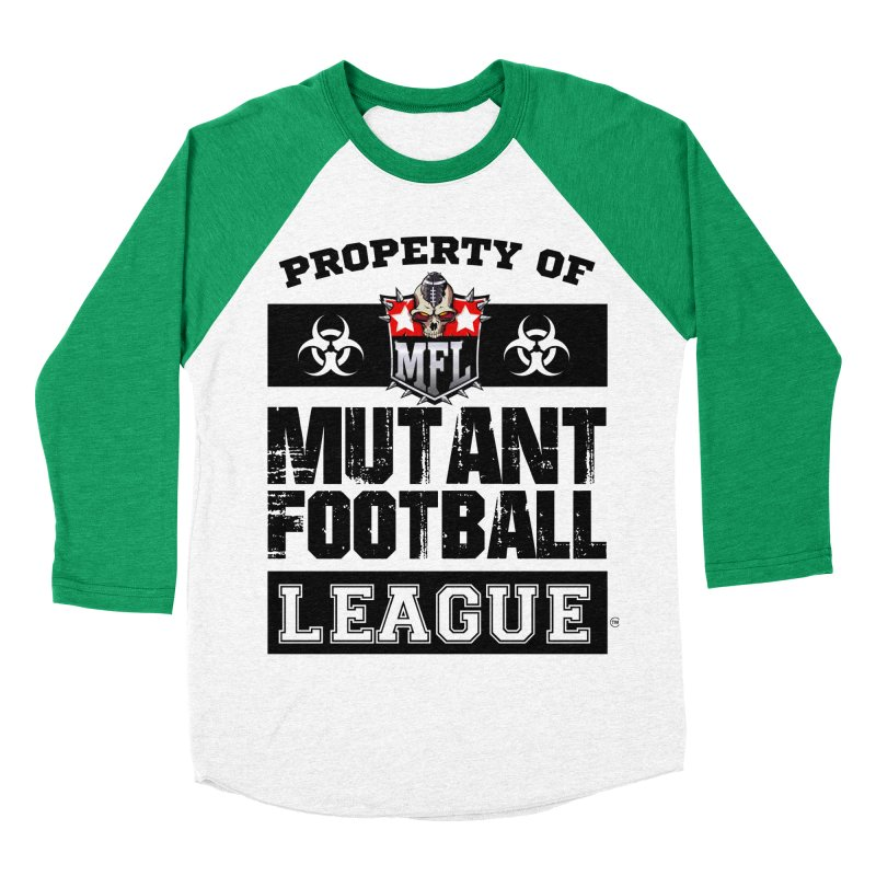 Property of MFL apparel Men's Baseball Triblend Longsleeve T-Shirt by Mutant Football League Team Store