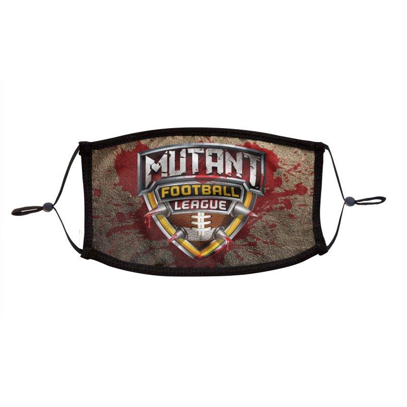 MFL Logo w/ splatter Accessories Face Mask by Mutant Football League Team Store