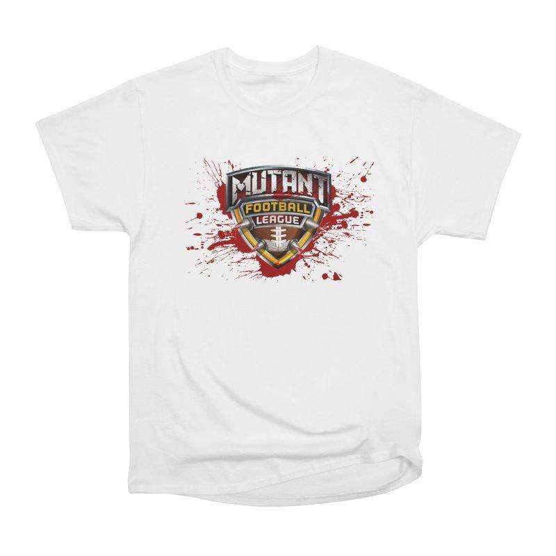 MFL Logo apparel Women's Heavyweight Unisex T-Shirt by Mutant Football League Team Store