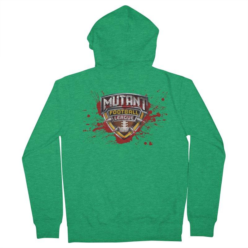 MFL Logo w/ splatter Men's Zip-Up Hoody by Mutant Football League Team Store