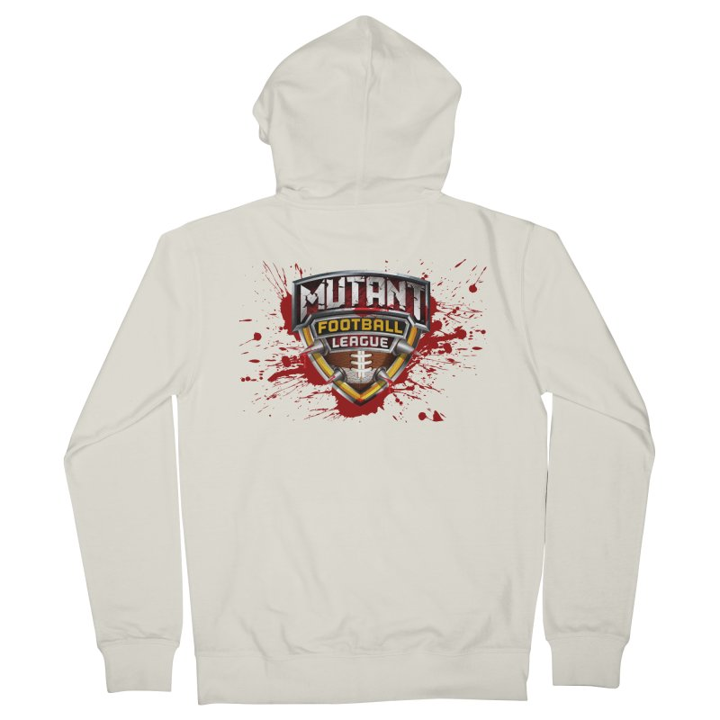 MFL Logo apparel Men's French Terry Zip-Up Hoody by Mutant Football League Team Store