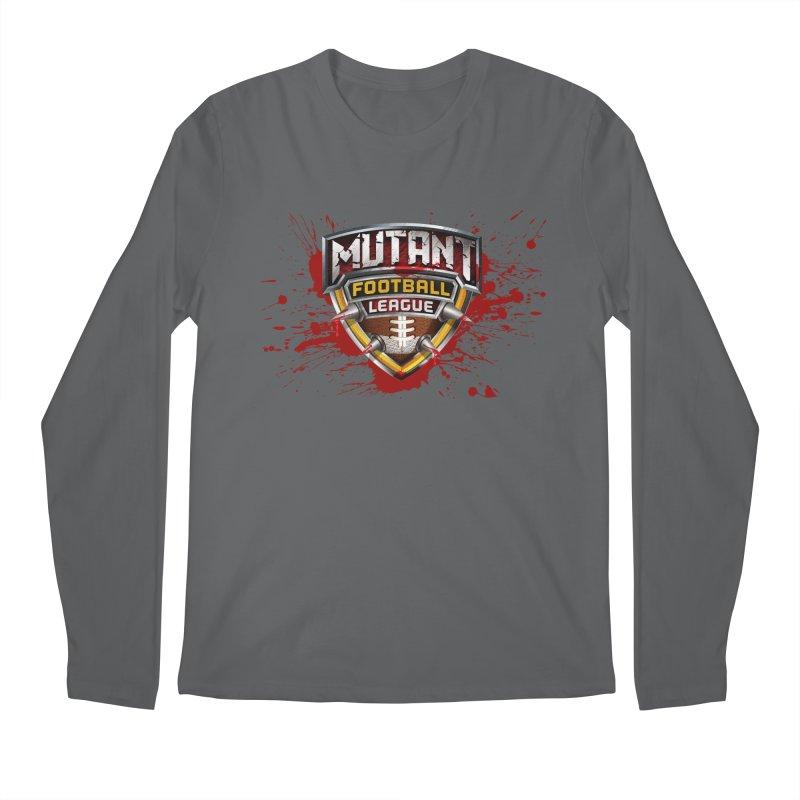 MFL Logo w/ splatter Men's Longsleeve T-Shirt by Mutant Football League Team Store