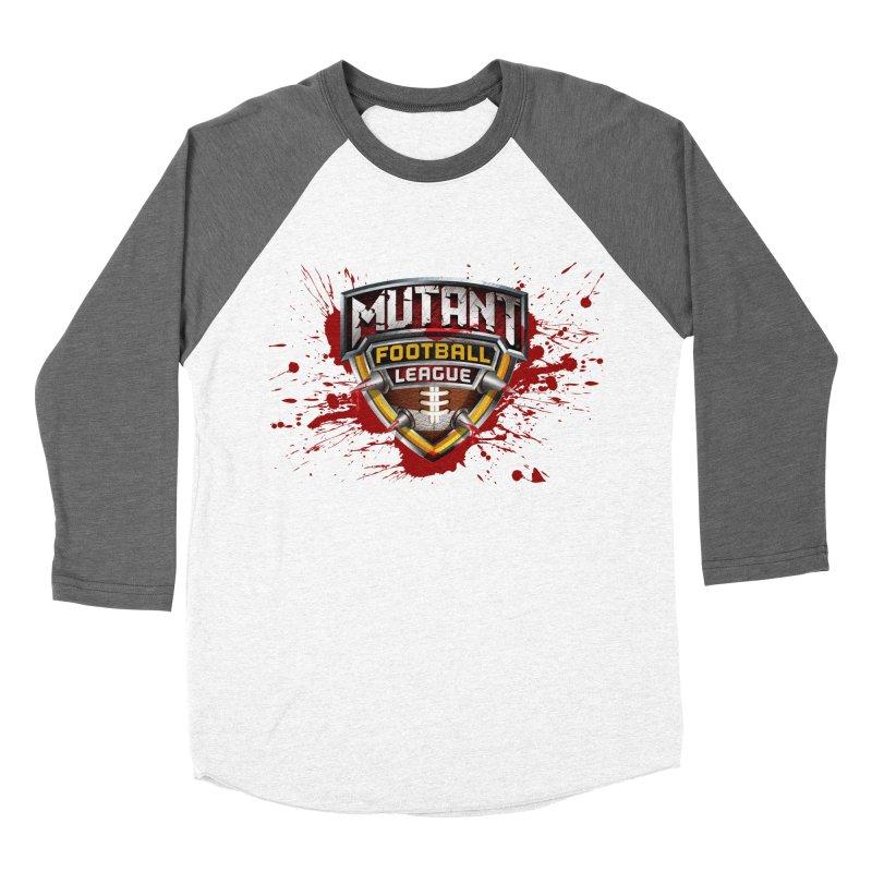 MFL Logo apparel Men's Baseball Triblend Longsleeve T-Shirt by Mutant Football League Team Store