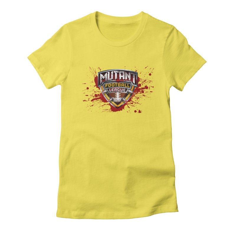 MFL Logo w/ splatter Women's T-Shirt by Mutant Football League Team Store