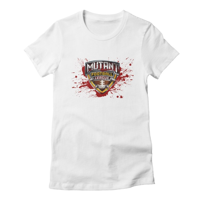 MFL Logo apparel Women's Fitted T-Shirt by Mutant Football League Team Store