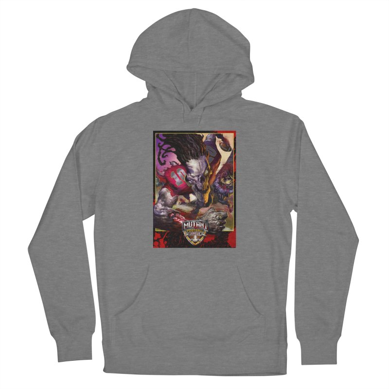 MFL Skeleton apparel Men's French Terry Pullover Hoody by Mutant Football League Team Store