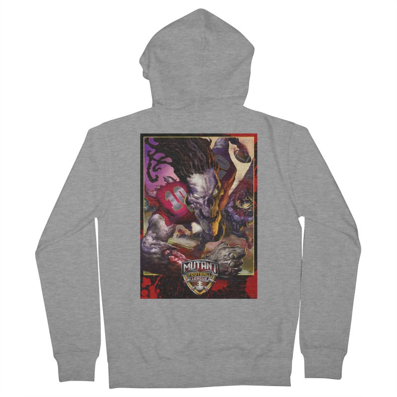 MFL Skeleton apparel Men's French Terry Zip-Up Hoody by Mutant Football League Team Store