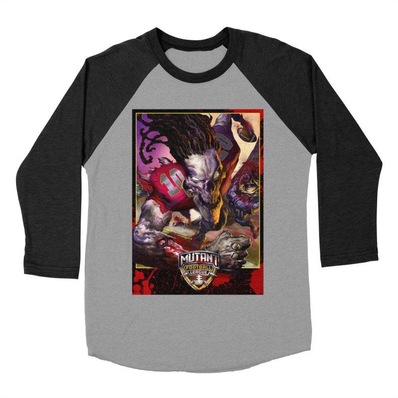 MFL Skeleton apparel Men's Baseball Triblend Longsleeve T-Shirt by Mutant Football League Team Store