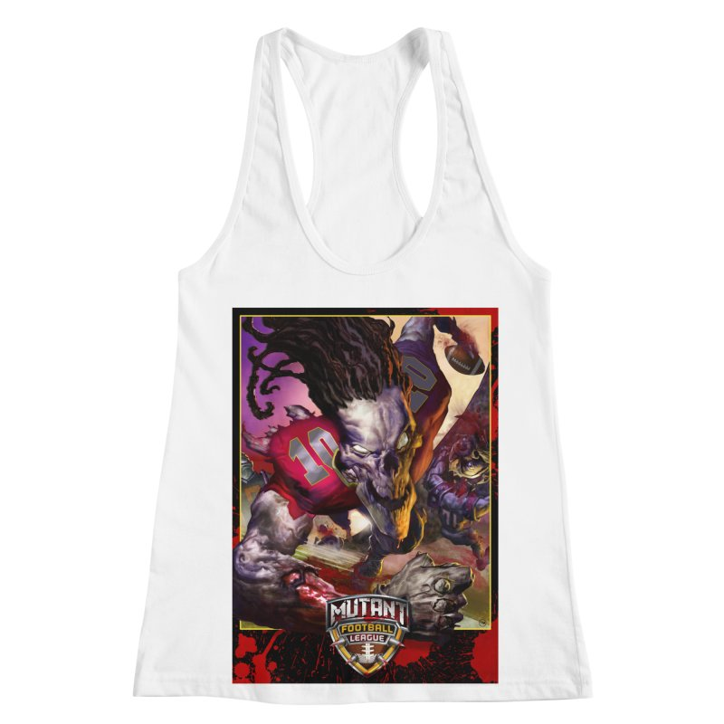MFL Skeleton apparel Women's Racerback Tank by Mutant Football League Team Store