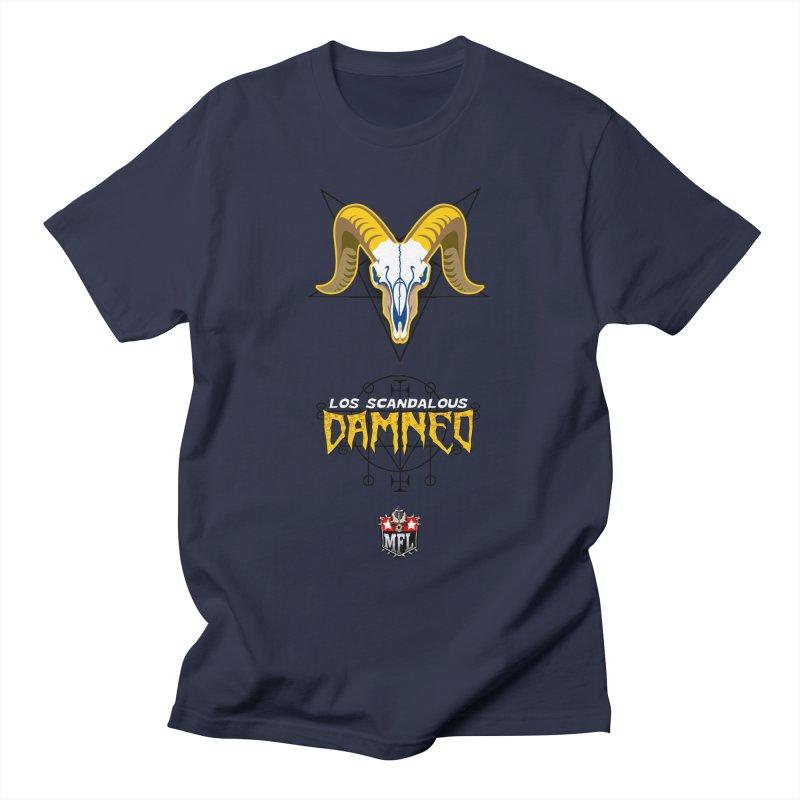 MFL Los Scandalous Damned logo Men's T-Shirt by Mutant Football League Team Store