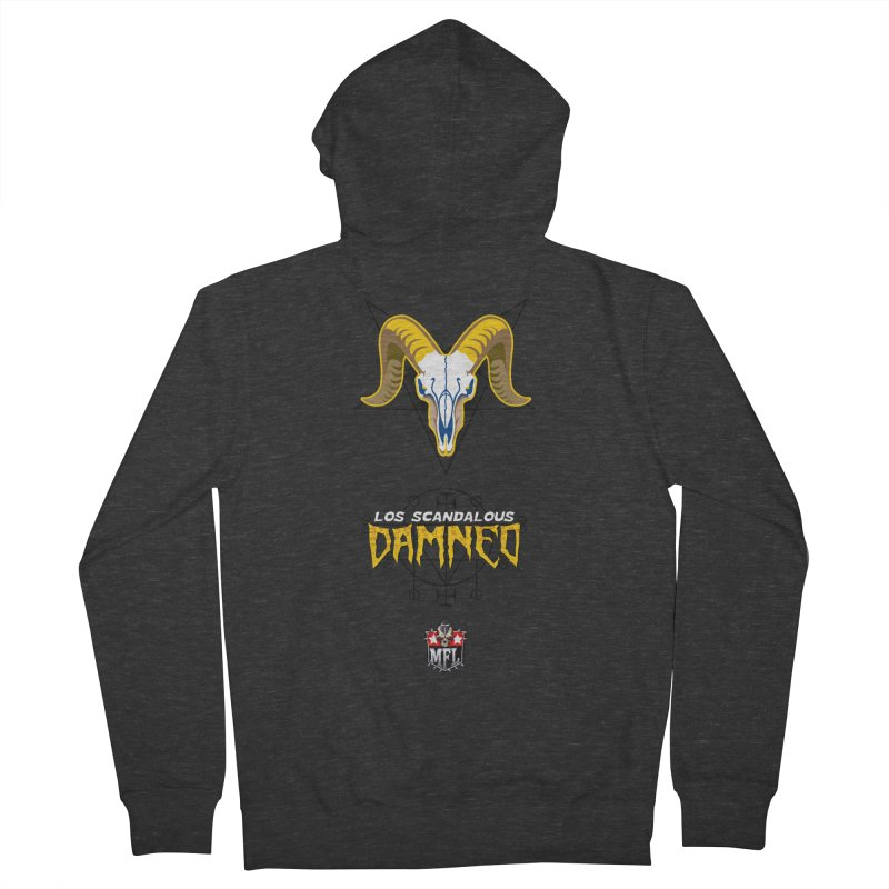 MFL Los Scandalous Damned logo Women's Zip-Up Hoody by Mutant Football League Team Store
