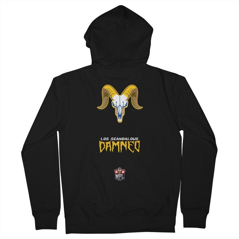 MFL Los Scandalous Damned logo Women's Zip-Up Hoody by Mutant Football League Team Store