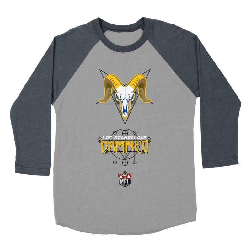 MFL Los Scandalous Damned apparel Men's Baseball Triblend Longsleeve T-Shirt by Mutant Football League Team Store