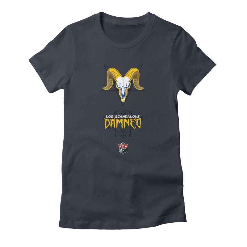 MFL Los Scandalous Damned logo Women's T-Shirt by Mutant Football League Team Store