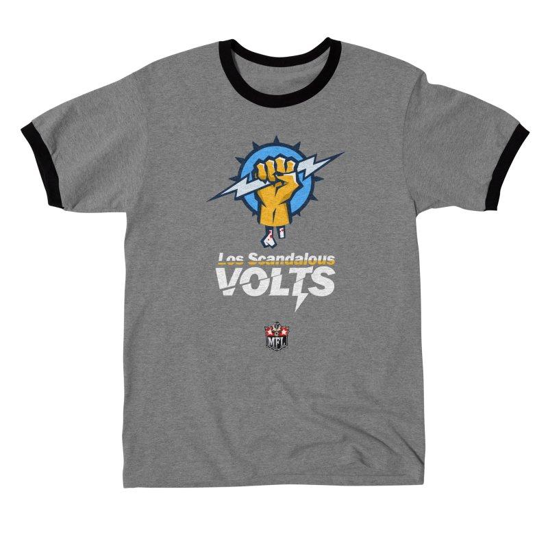 MFL Los Scandalous Volts logo Men's T-Shirt by Mutant Football League Team Store