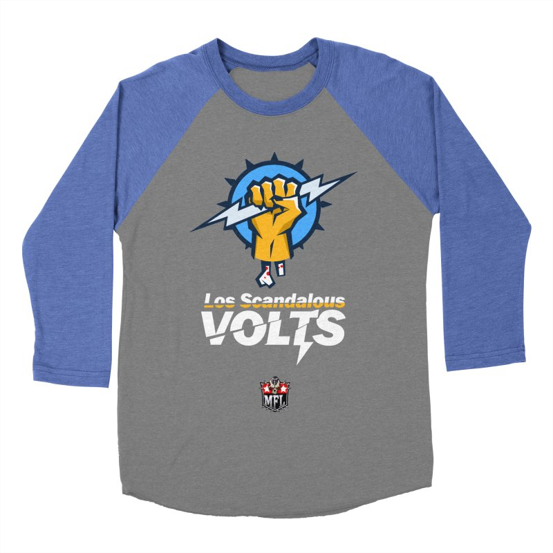 MFL Los Scandalous Volts apparel Men's Baseball Triblend Longsleeve T-Shirt by Mutant Football League Team Store