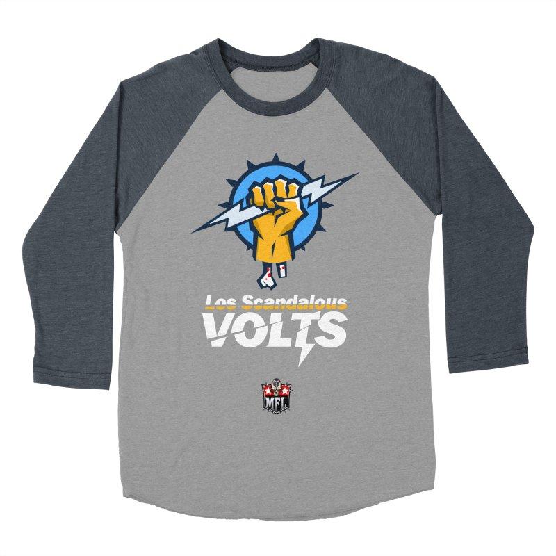 MFL Los Scandalous Volts apparel Men's Baseball Triblend Longsleeve T-Shirt by Mutant Football League Team Store