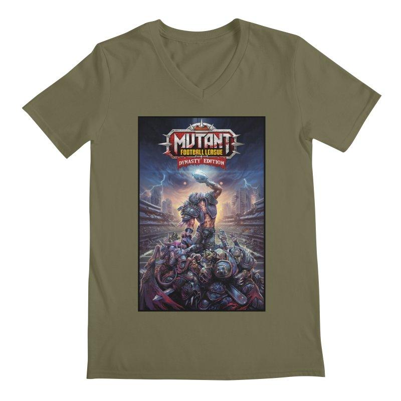 MFL Dynasty Edition art Men's V-Neck by Mutant Football League Team Store
