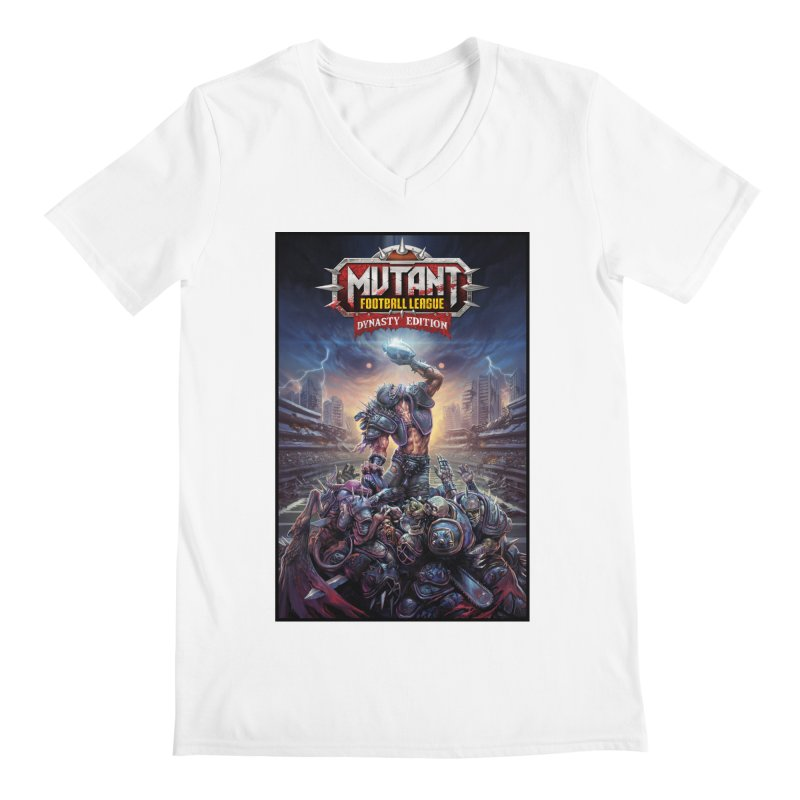 MFL Dynasty Edition art Men's V-Neck by Mutant Football League Team Store