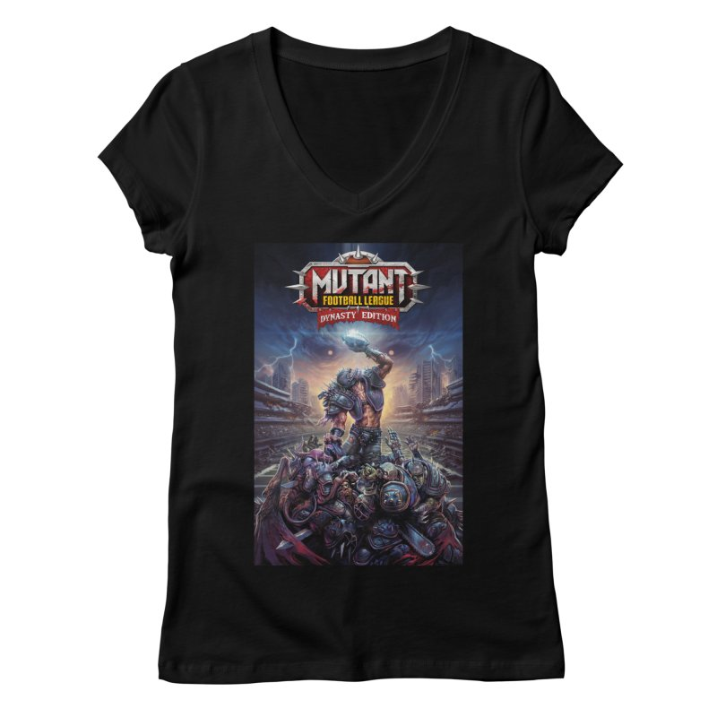 MFL Dynasty Edition art Women's V-Neck by Mutant Football League Team Store