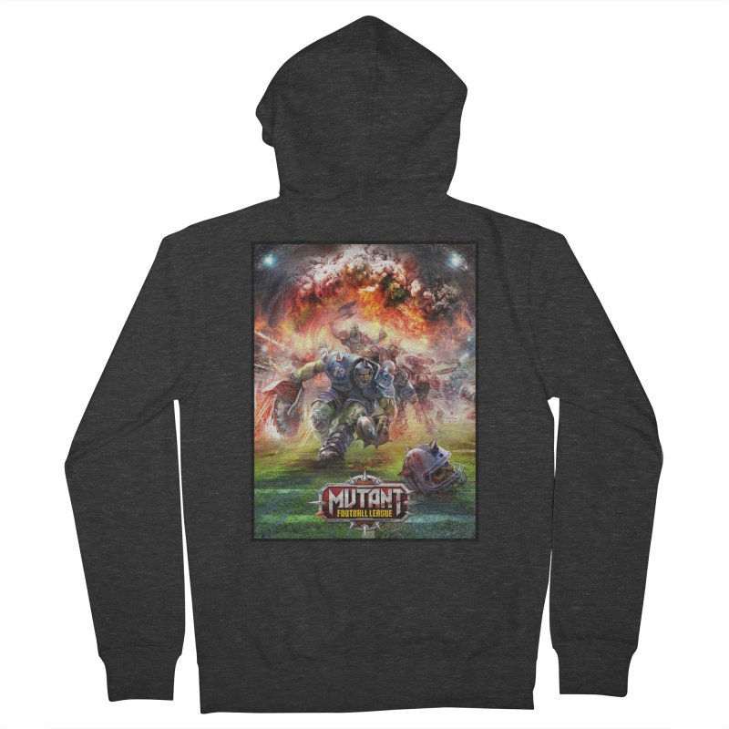 MFL Chainsaw art Women's Zip-Up Hoody by Mutant Football League Team Store