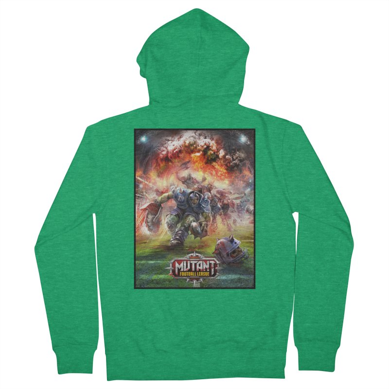 MFL Chainsaw art Men's Zip-Up Hoody by Mutant Football League Team Store