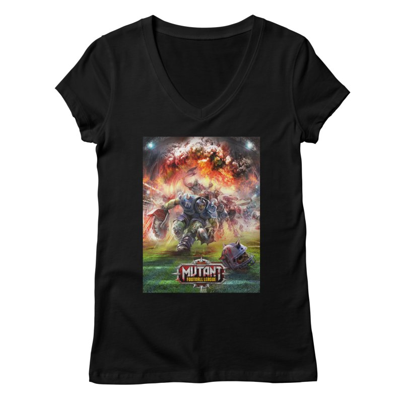 MFL Chainsaw art Women's V-Neck by Mutant Football League Team Store