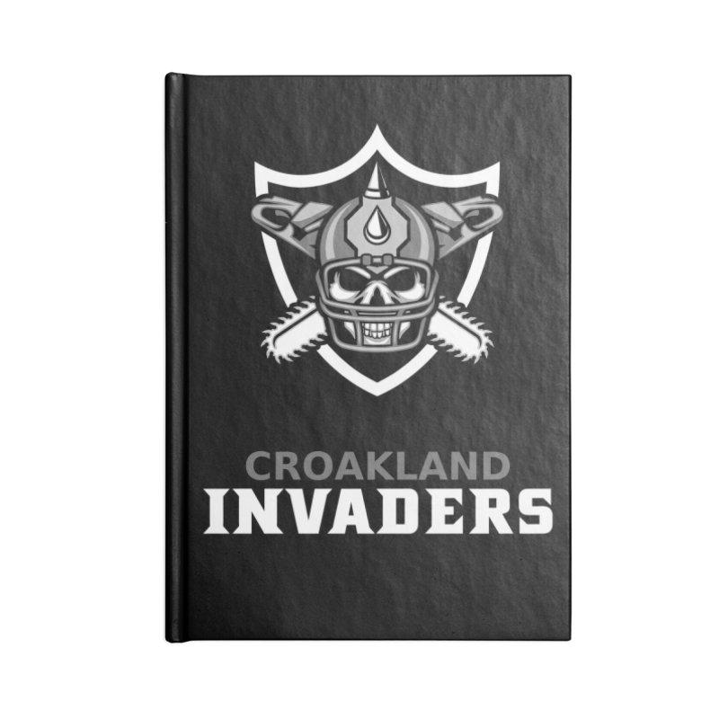 MFL Croakland Invaders journal Accessories Blank Journal Notebook by Mutant Football League Team Store