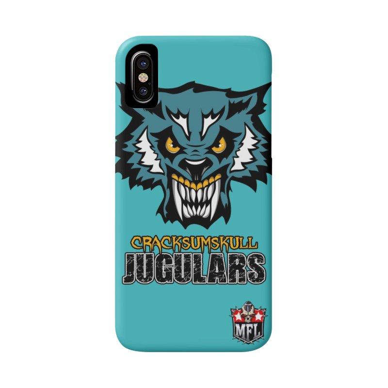MFL Cracksumskull Jugulars phone case Accessories Phone Case by Mutant Football League Team Store