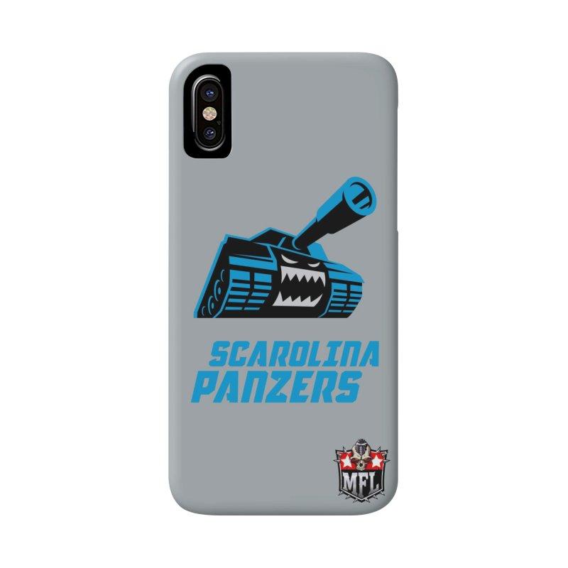 MFL Scarolina Panzers phone case Accessories Phone Case by Mutant Football League Team Store