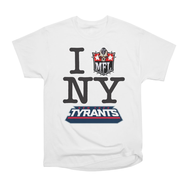 I MFLove New Yuck apparel Men's Heavyweight T-Shirt by Mutant Football League Team Store