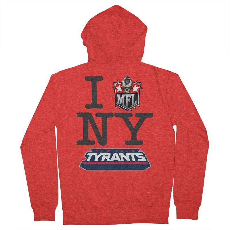 I MFLove New Yuck (Tyrants) Women's Zip-Up Hoody by Mutant Football League Team Store