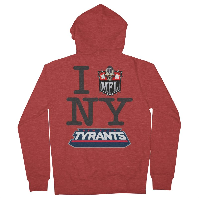 I MFLove New Yuck apparel Women's French Terry Zip-Up Hoody by Mutant Football League Team Store