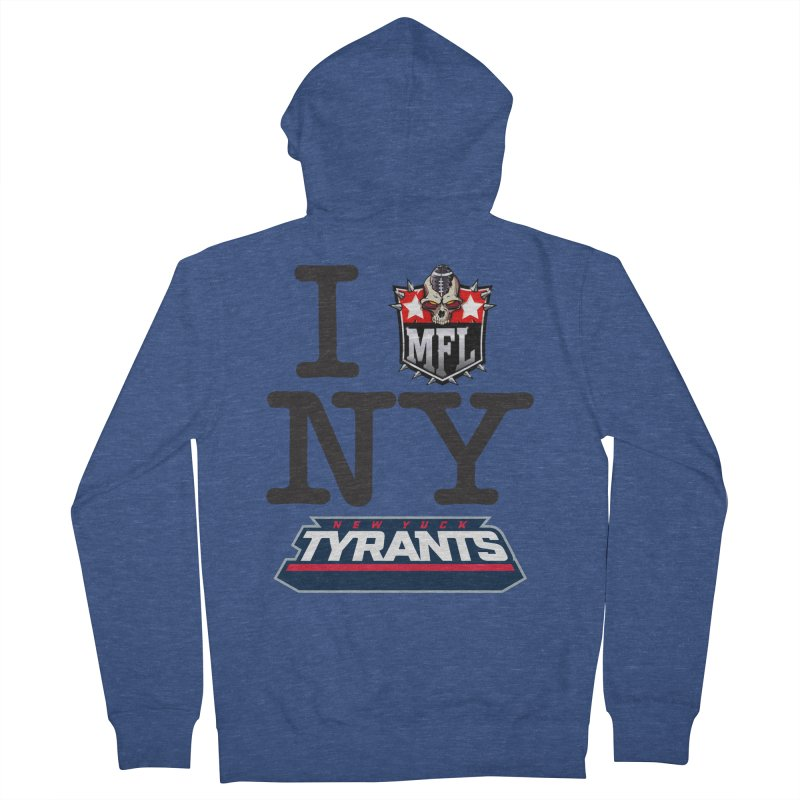 I MFLove New Yuck (Tyrants) Men's Zip-Up Hoody by Mutant Football League Team Store