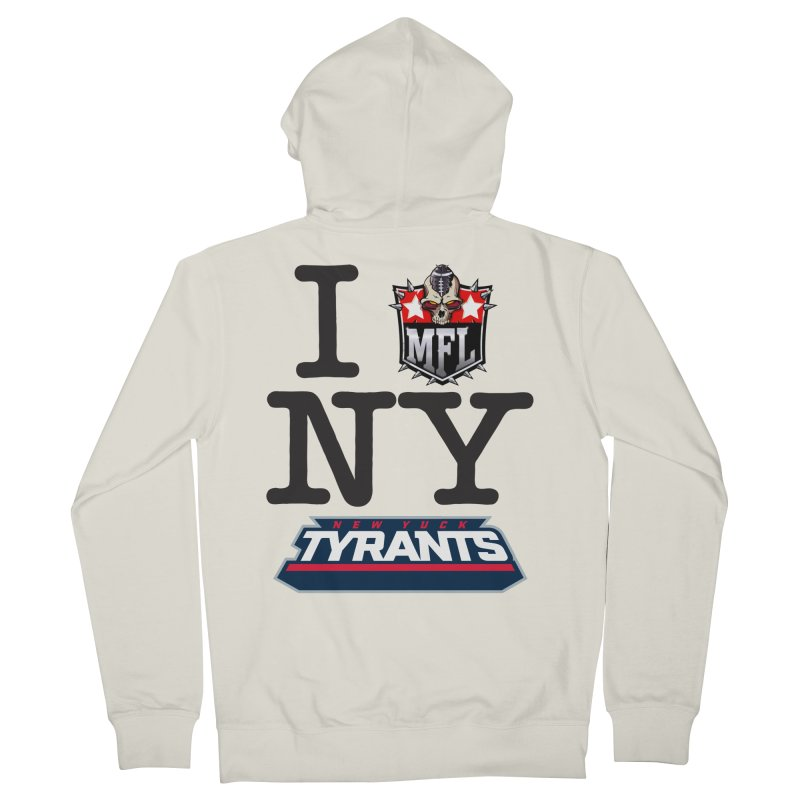 I MFLove New Yuck apparel Men's French Terry Zip-Up Hoody by Mutant Football League Team Store
