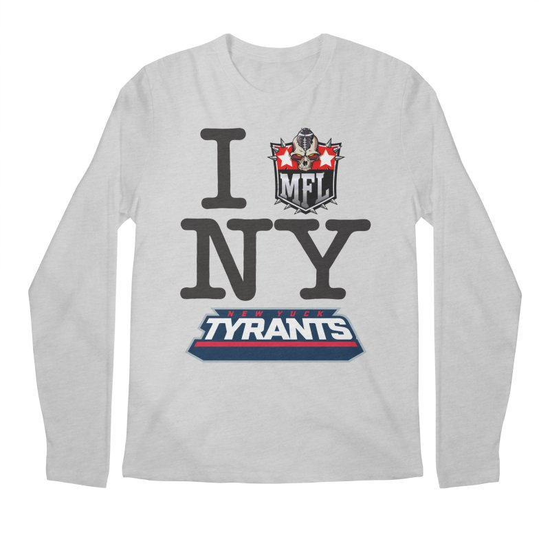 I MFLove New Yuck (Tyrants) Men's Longsleeve T-Shirt by Mutant Football League Team Store