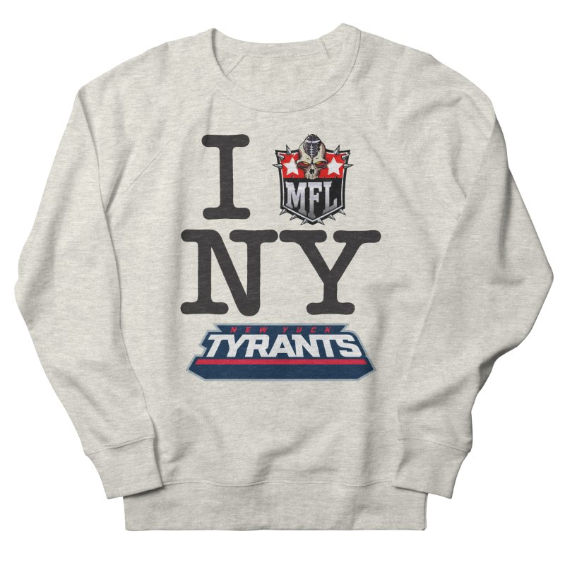 I MFLove New Yuck apparel Women's French Terry Sweatshirt by Mutant Football League Team Store