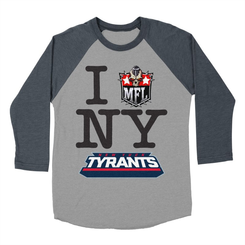 I MFLove New Yuck apparel Women's Baseball Triblend Longsleeve T-Shirt by Mutant Football League Team Store