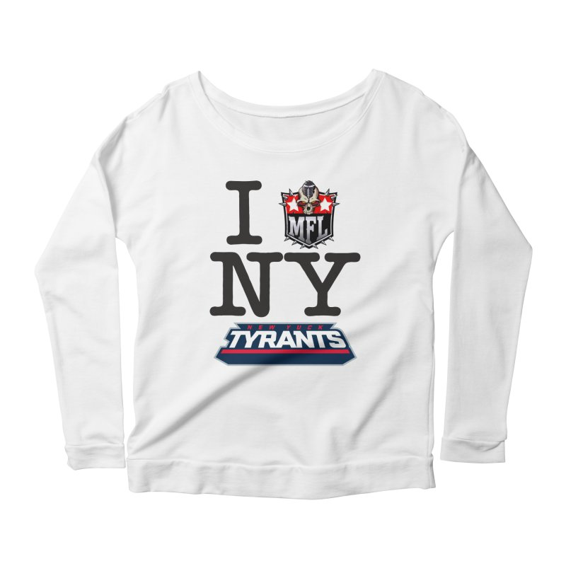 I MFLove New Yuck apparel Women's Scoop Neck Longsleeve T-Shirt by Mutant Football League Team Store