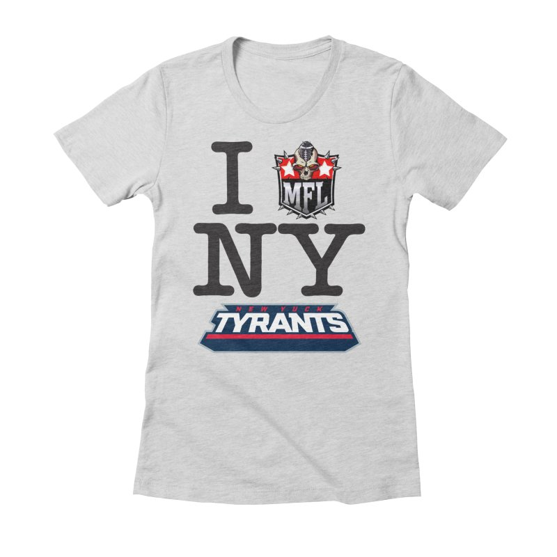 I MFLove New Yuck apparel Women's Fitted T-Shirt by Mutant Football League Team Store