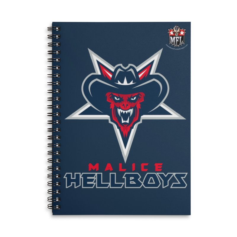 MFL Malice Hellboys notebook Accessories Lined Spiral Notebook by Mutant Football League Team Store