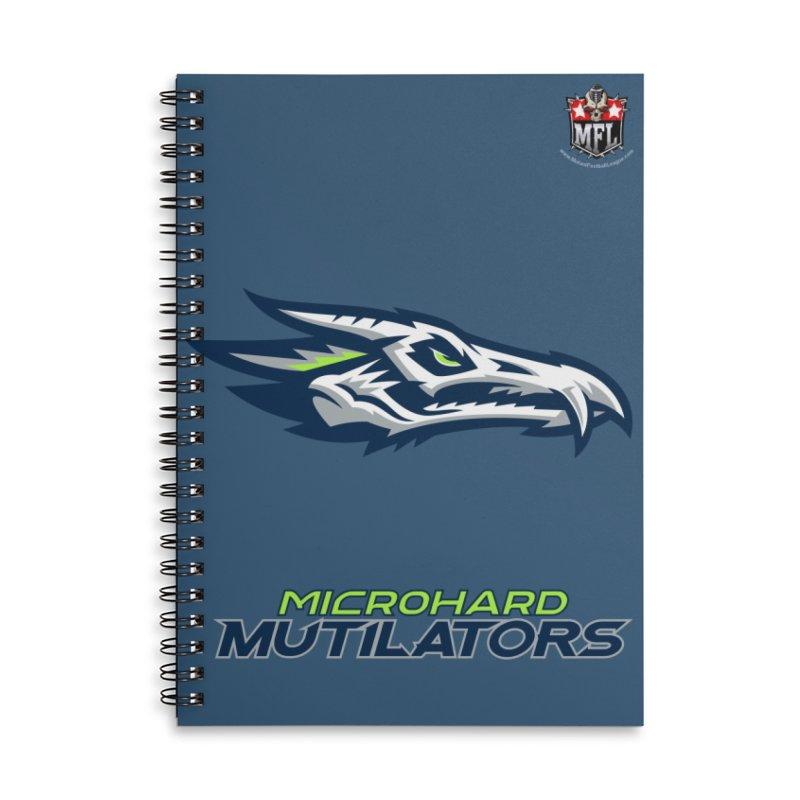 MFL Microhard Mutilators notebook Accessories Lined Spiral Notebook by Mutant Football League Team Store