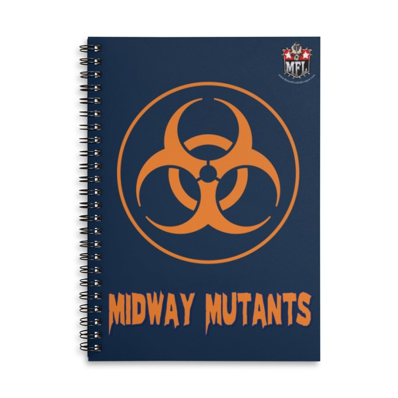 MFL Midway Mutants notebook Accessories Lined Spiral Notebook by Mutant Football League Team Store