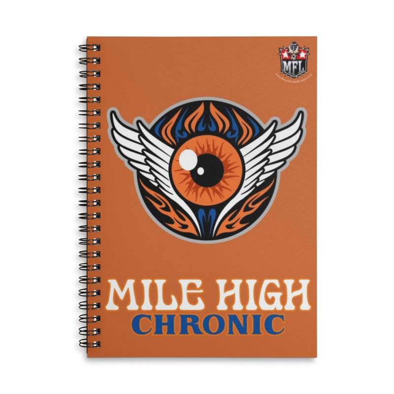 MFL Mile High Chronic notebook Accessories Lined Spiral Notebook by Mutant Football League Team Store